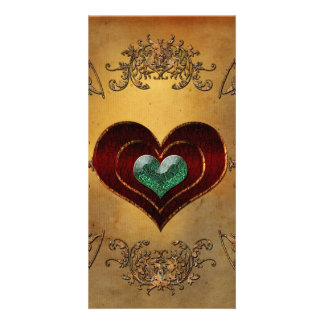 Wonderful hearts with decorative floral elements card