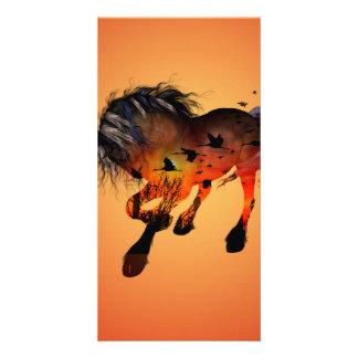 Wonderful horse card
