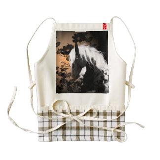 Wonderful horse with flowers zazzle HEART apron