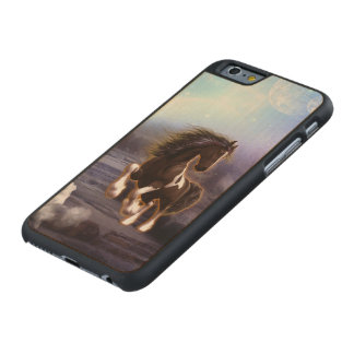 Wonderful horse with moon carved® maple iPhone 6 slim case