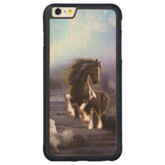 Wonderful horse with moon in the night carved® maple iPhone 6 plus bumper case