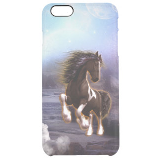 Wonderful horse with moon in the night clear iPhone 6 plus case