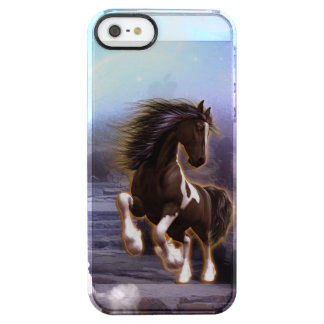 Wonderful horse with moon in the night clear iPhone SE/5/5s case