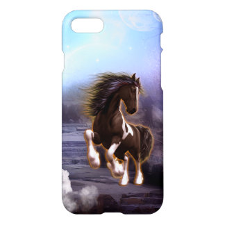 Wonderful horse with moon in the night iPhone 7 case