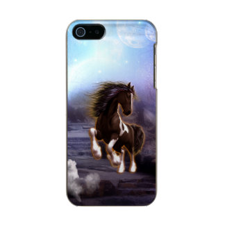 Wonderful horse with moon in the night metallic phone case for iPhone SE/5/5s
