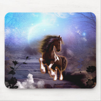 Wonderful horse with moon in the night mouse pad