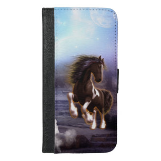 Wonderful horse with moon iPhone 6/6s plus wallet case
