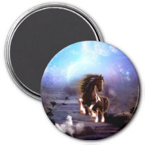 Wonderful horse with moon magnet