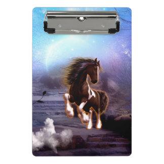 Wonderful horse with moon mini clipboard