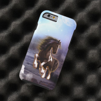 Wonderful horse with moon tough iPhone 6 case