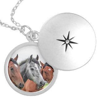 Wonderful Horses Wildlife Ridding Silver Plated Necklace