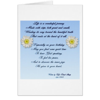 Wonderful Journey Birthday Poem Greeting Card