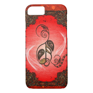 Wonderful key notes with floral elements iPhone 8/7 case
