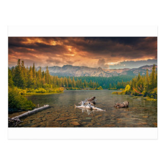 Wonderful lake postcard