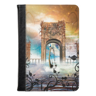 Wonderful lamp boat drives by a gate kindle case