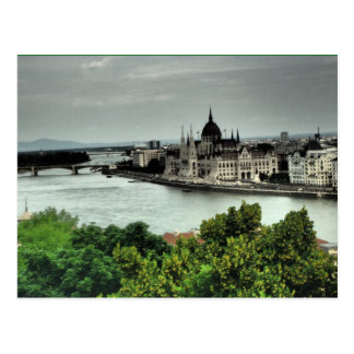 wonderful landscape postcard from from budapest
