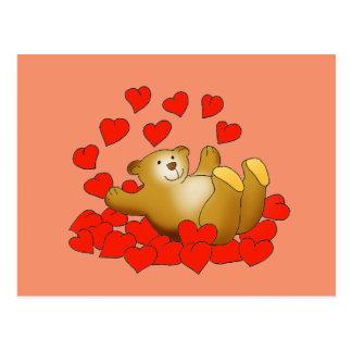 Wonderful Love Heart postcard with a Teddy Bear