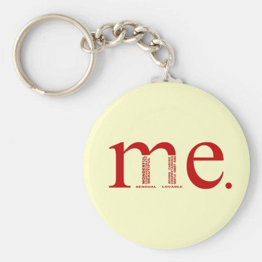 Wonderful Me Basic Round Button Keychain