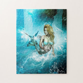 Wonderful mermaid in a fantasy underwater world puzzle