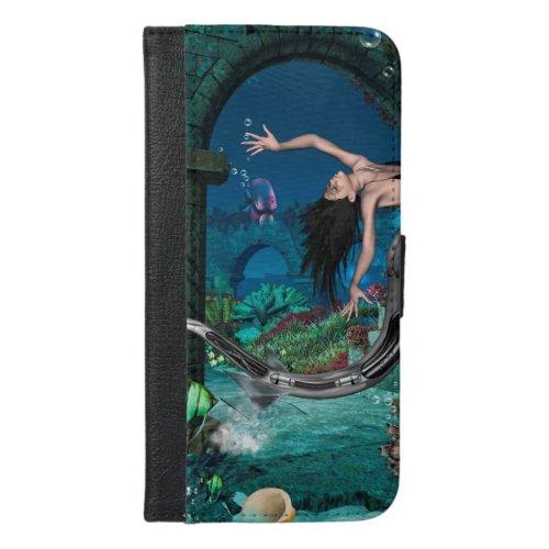 Wonderful mermaid with fantasy fish Phone Case