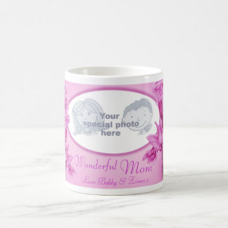 "Wonderful Mom pink orchid ""own photo"" mug"