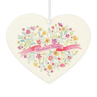 Wonderful Mother floral heart custom freshener