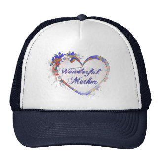 Wonderful Mother Floral Heart Gifts Cap