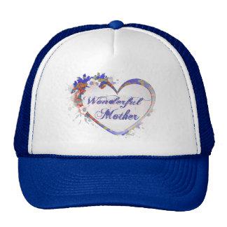 Wonderful Mother Floral Heart Trucker Hat
