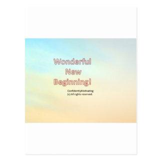 Wonderful new beginning postcard