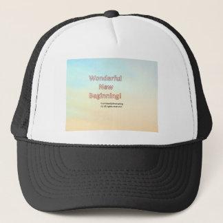 Wonderful new beginning trucker hat