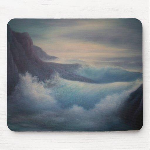 Wonderful oil painting, sea scape, mouse pad