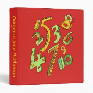 Wonderful One to Ten Numbers 1 inch School Binder