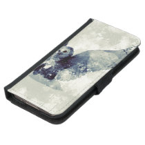 Wonderful owl in watercolor samsung galaxy s5 wallet case