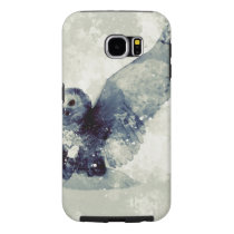 Wonderful owl in watercolor samsung galaxy s6 case