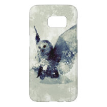 Wonderful owl in watercolor samsung galaxy s7 case