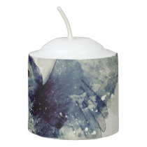Wonderful owl in watercolor votive candle