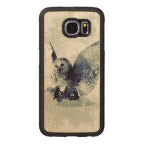Wonderful owl in watercolor wood phone case