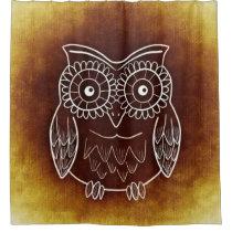 Wonderful Owl Shower Curtain