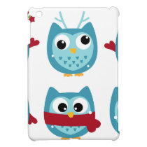Wonderful owls blue on white case for the iPad mini
