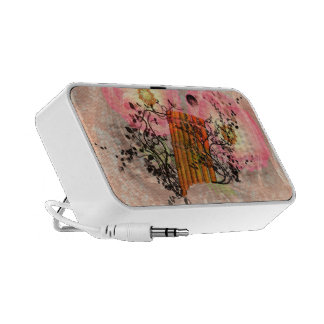 Wonderful pan flute with roses an soft background mini speaker