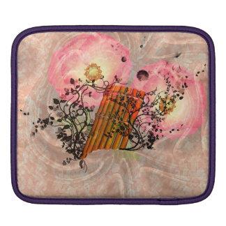 Wonderful pan flute with roses iPad sleeve