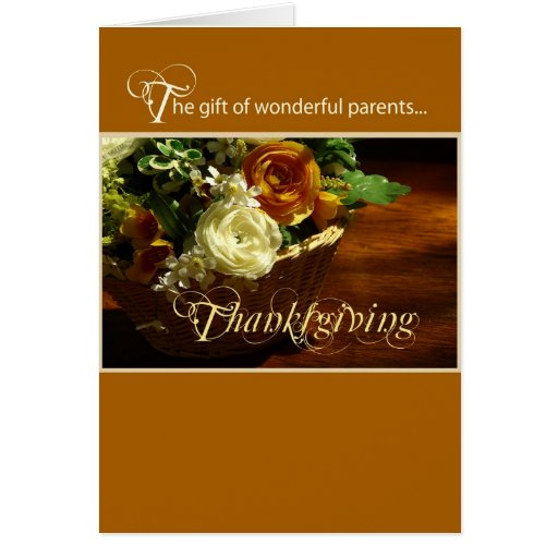 Wonderful Parents at Thanksgiving Greeting Cards