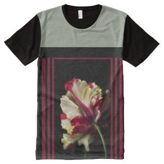 Wonderful Parrot Tulip Design by Bubbleblue All-Over-Print Shirt
