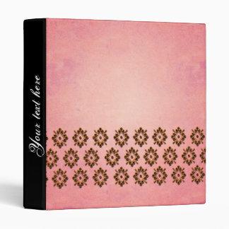 Wonderful pattern on pink background binder