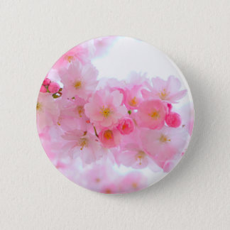 Wonderful Pink Japanese Cherry Blossom Button