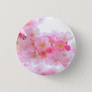Wonderful Pink Japanese Cherry Blossom Pinback Button