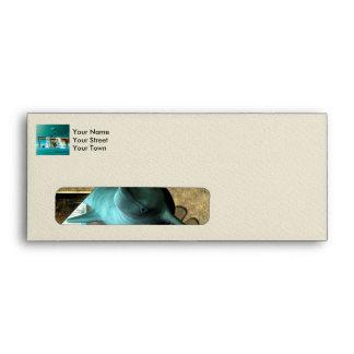 Wonderful playing dolphins envelope
