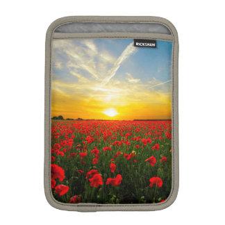 Wonderful Poppy Field Sunset Horizon Sleeve For iPad Mini