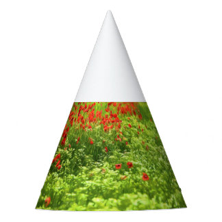 Wonderful poppy flowers V - Wundervolle Mohnblumen Party Hat