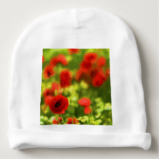 Wonderful poppy flowers VI - Wundervolle Mohnblume Baby Beanie